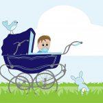 Первая прогулка новорожденного после выписки из роддома