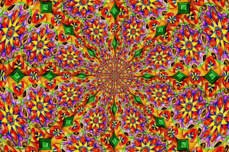 Мандала раскраска-антистресс