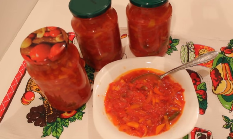 Лечо из помидоров перца моркови и лука