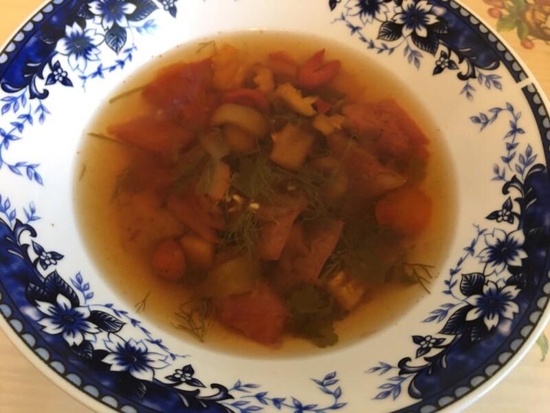 Суп с момордикой