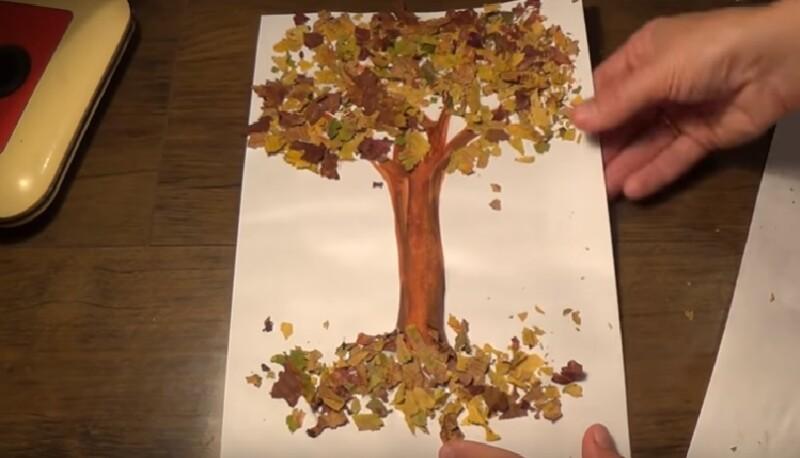 Картина из природного материала