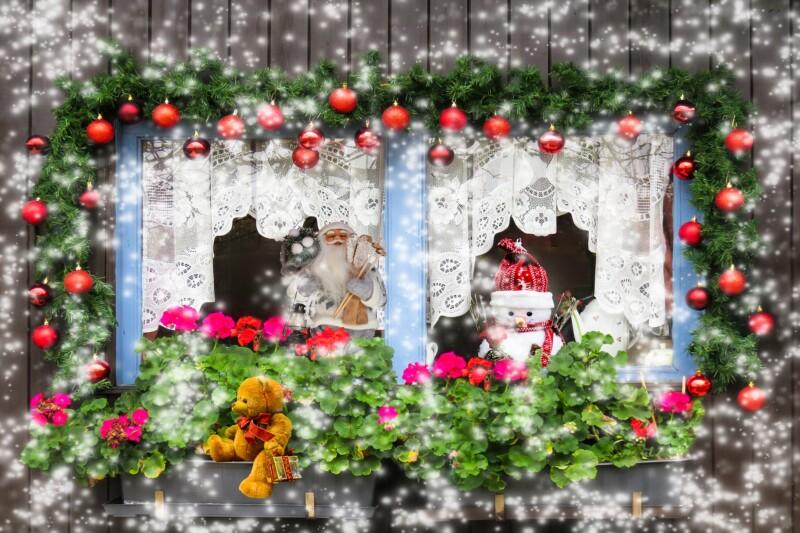 Новогодние вырезалки на окна
